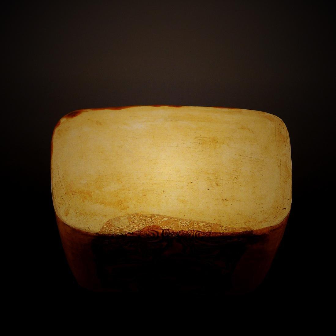 Tang Dynasty yellow glaze porcelain Headrest - 4