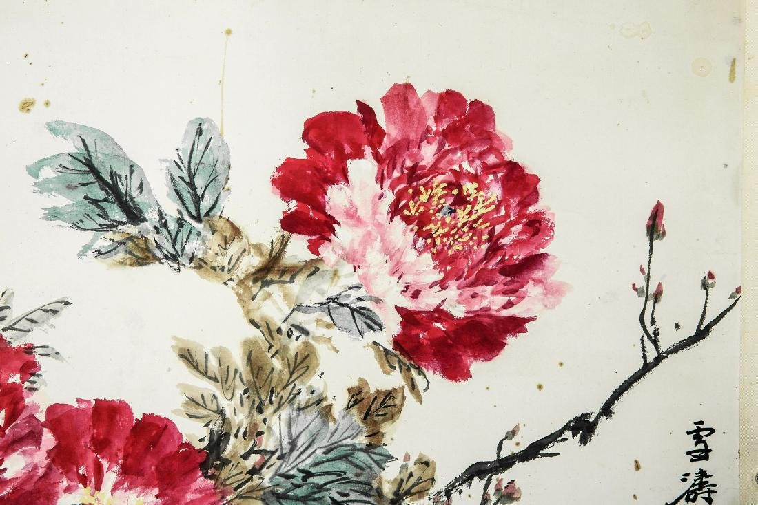 A Chinese Ink and Color Scrolling Painting, Wang Xuetao - 2