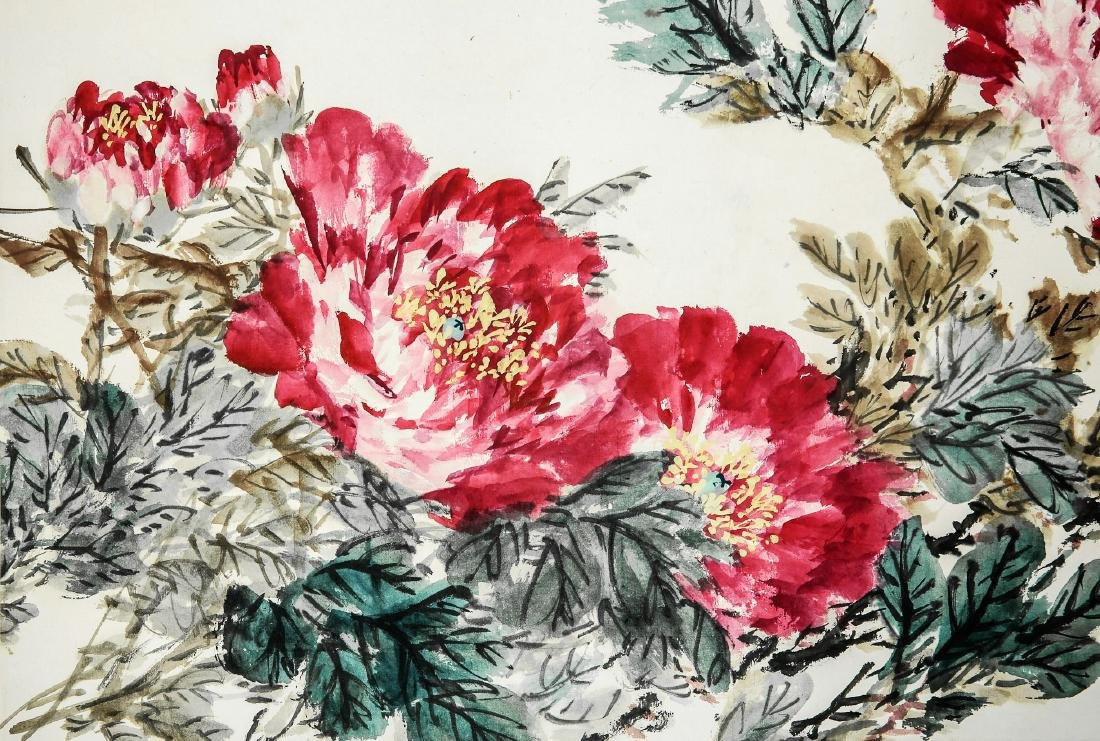 A Chinese Ink and Color Scrolling Painting, Wang Xuetao - 3