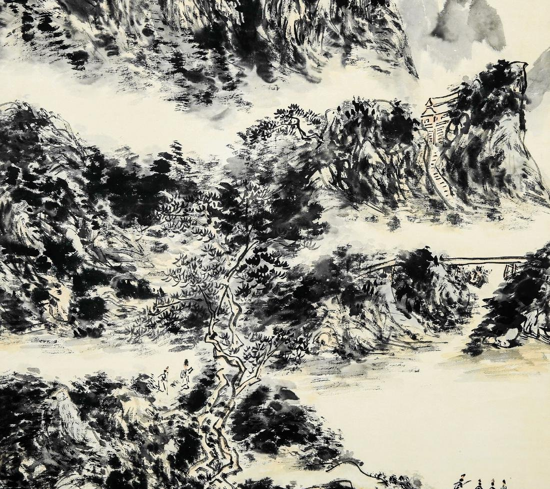 A Chinese Ink and Color Scrolling Painting Huang Binhon - 3