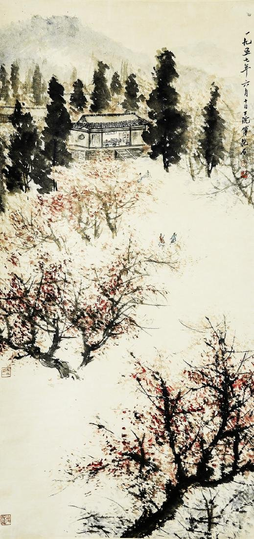 A Chinese Ink and Color Scrolling Painting, Fu Baoshi