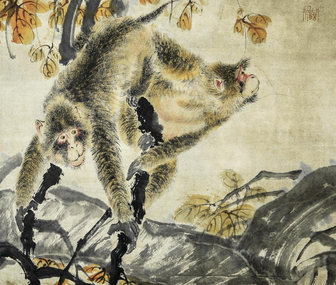 A Chinese Ink and Color Scrolling Painting Bai Yang Sha - 4