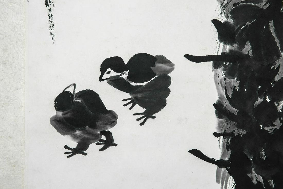 A Chinese Ink and Color Scrolling Painting, Qi Baishi - 3