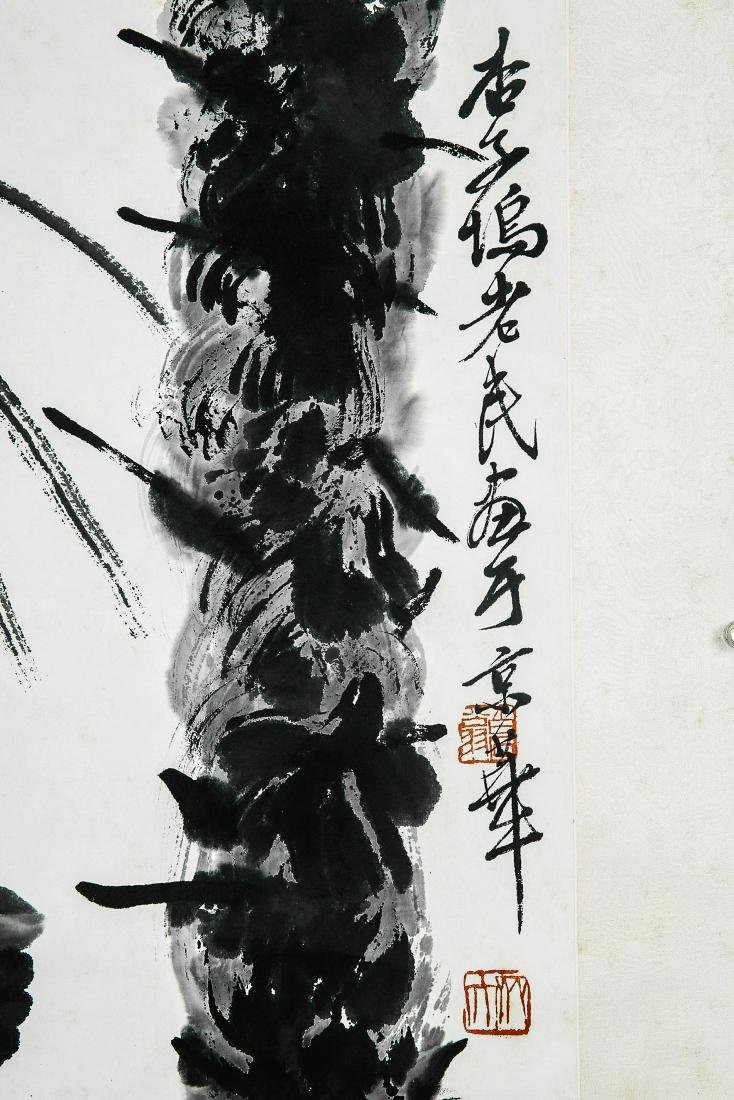 A Chinese Ink and Color Scrolling Painting, Qi Baishi - 5