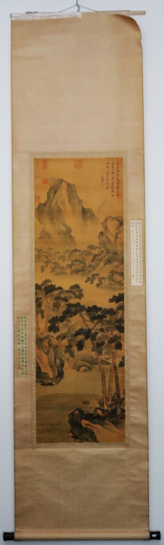 A Chinese Ink and Color Scrolling Painting Wen Zhengmin - 10