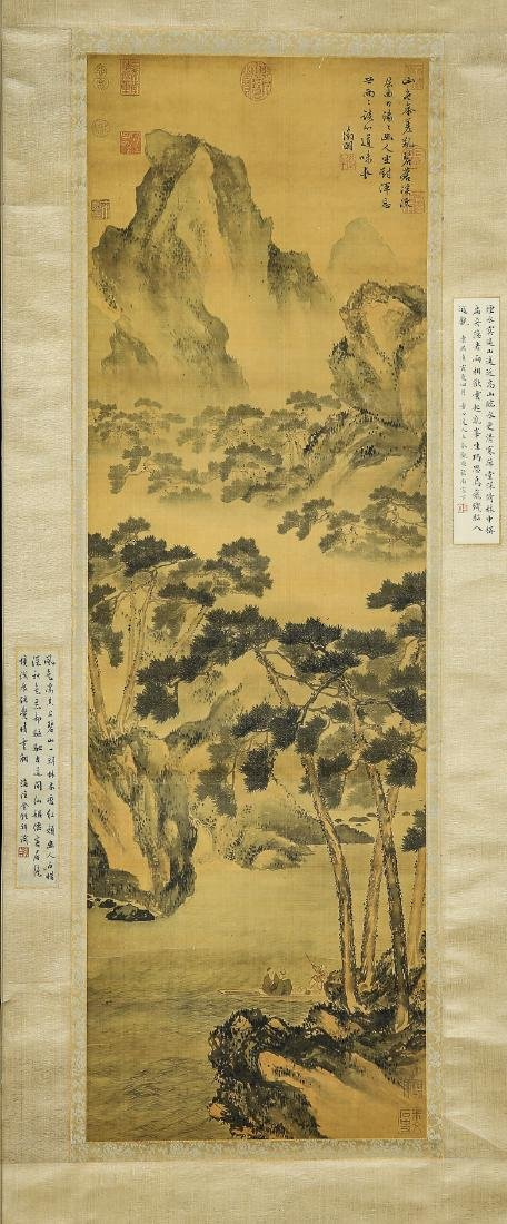 A Chinese Ink and Color Scrolling Painting Wen Zhengmin