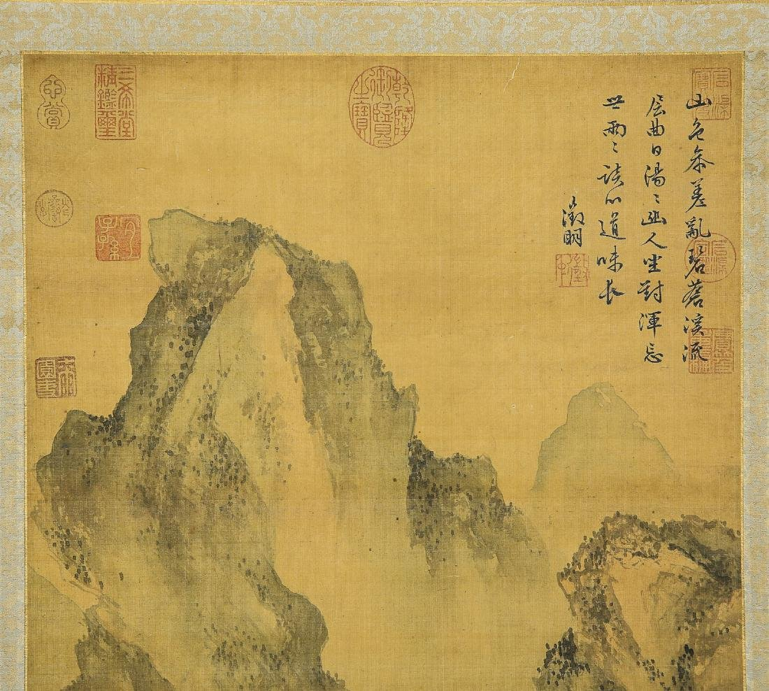 A Chinese Ink and Color Scrolling Painting Wen Zhengmin - 4