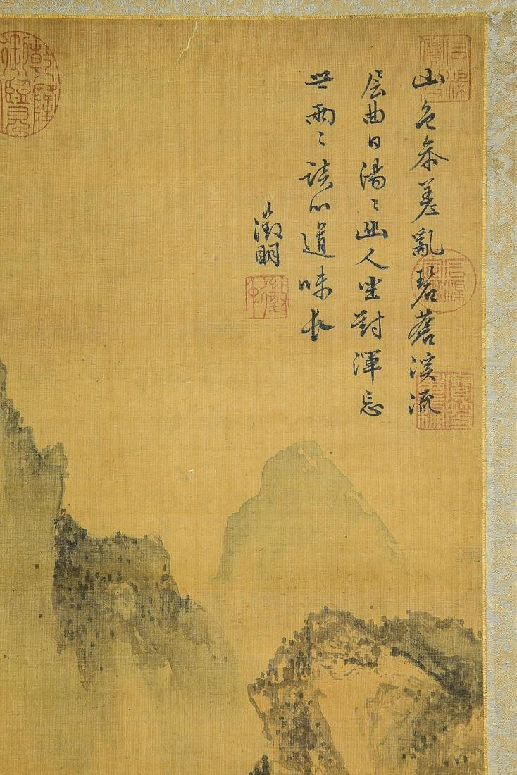 A Chinese Ink and Color Scrolling Painting Wen Zhengmin - 5