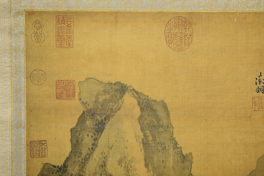 A Chinese Ink and Color Scrolling Painting Wen Zhengmin - 6