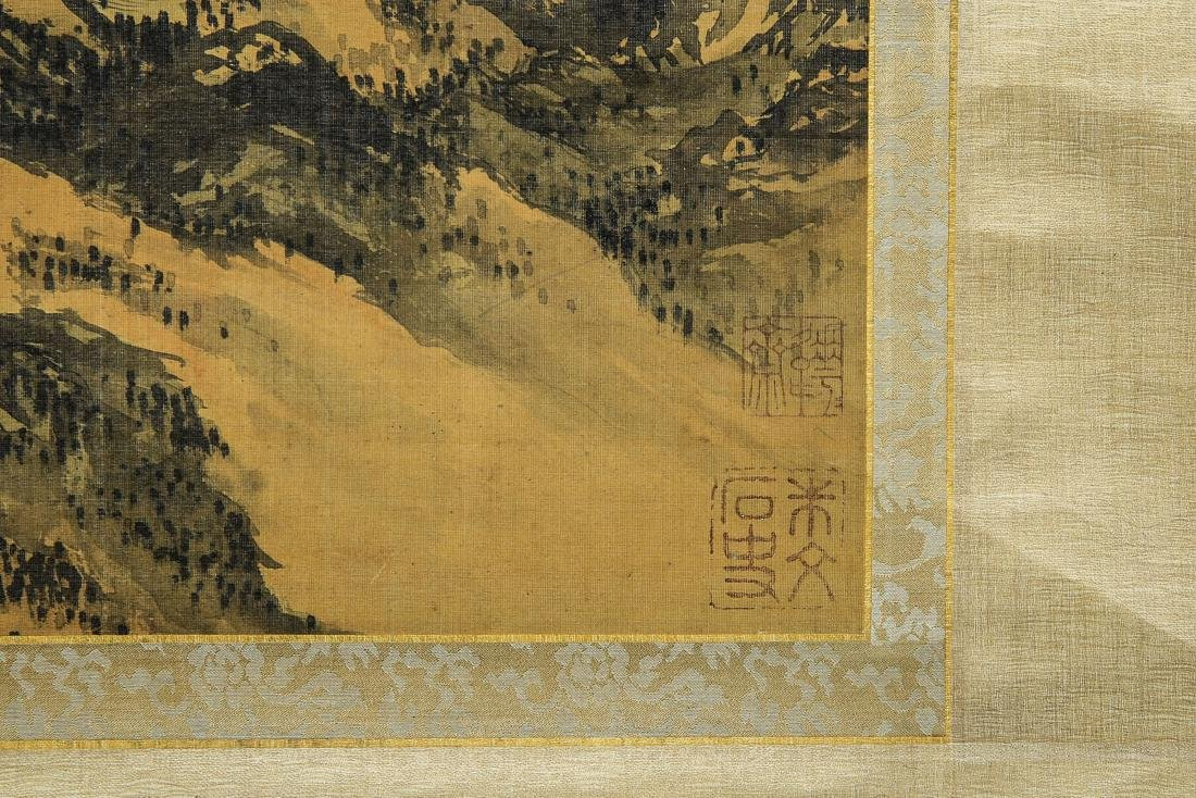 A Chinese Ink and Color Scrolling Painting Wen Zhengmin - 7