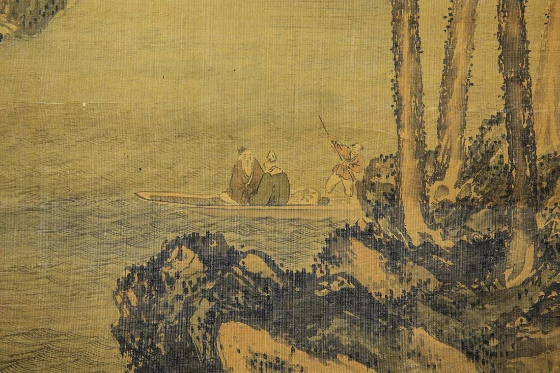A Chinese Ink and Color Scrolling Painting Wen Zhengmin - 8