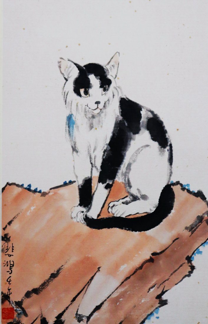 A Chinese Ink and Color Painting, Xu Beihong - 3