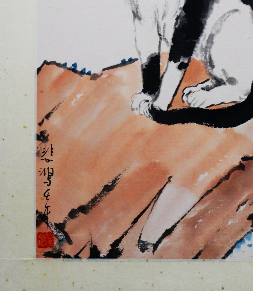 A Chinese Ink and Color Painting, Xu Beihong - 4