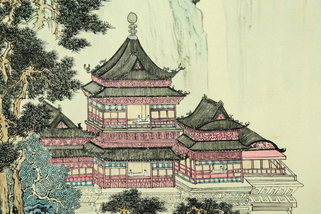 A Chinese Ink and Color Scrolling Painting, Pu Xinyu - 6