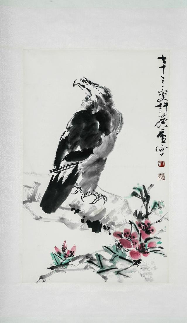 A Chinese Ink and Color Scrolling Painting, Xu Linlu