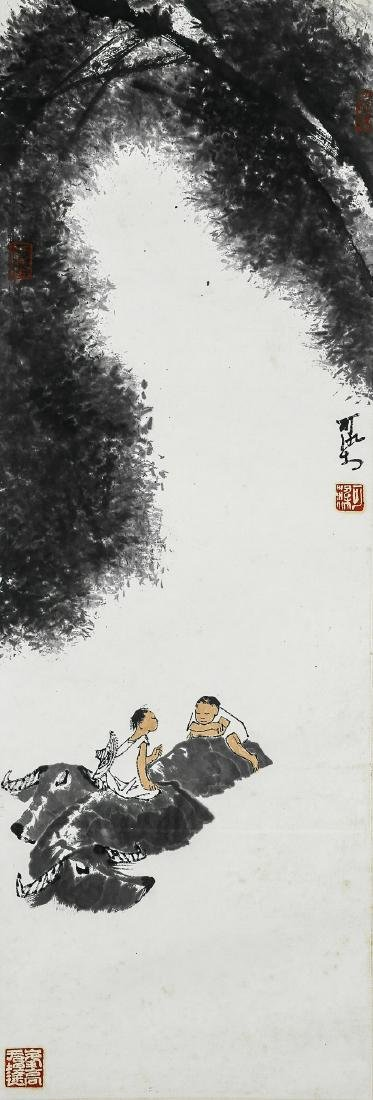 A Chinese Ink and Color Scrolling Painting, Li Keran