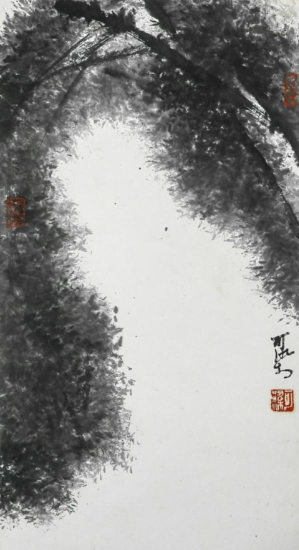A Chinese Ink and Color Scrolling Painting, Li Keran - 2