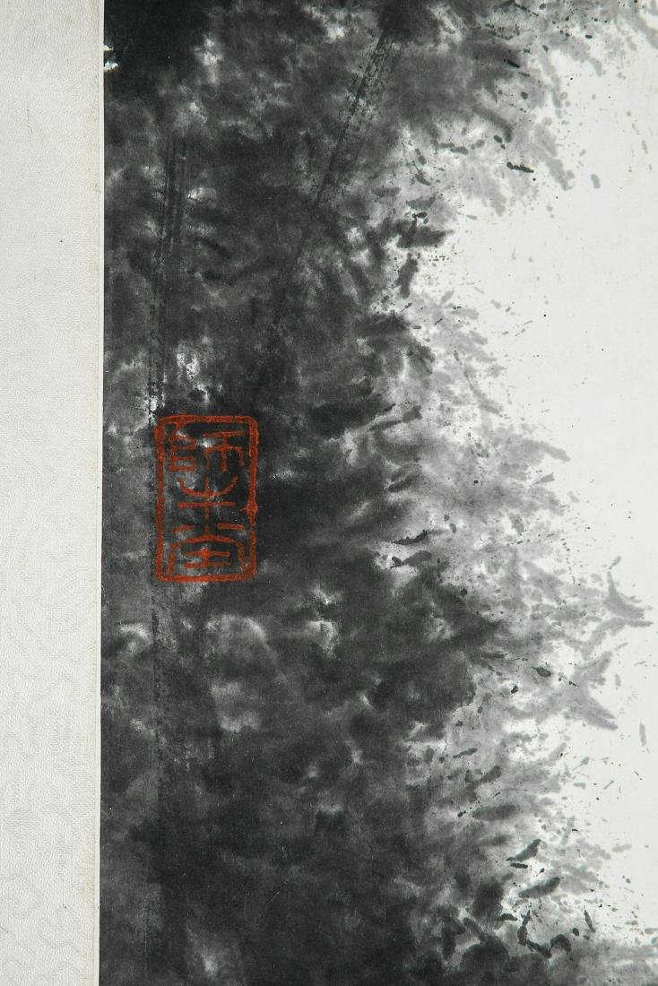 A Chinese Ink and Color Scrolling Painting, Li Keran - 6