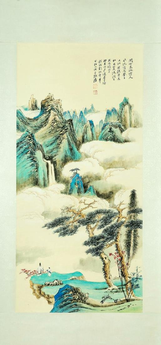 A Chinese Ink and Color Scrolling Painting Zhang Daqian