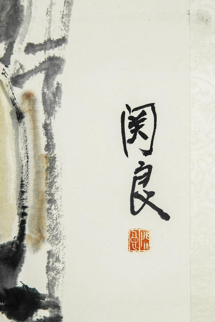 A Chinese Ink and Color Painting, Guan Liang - 2