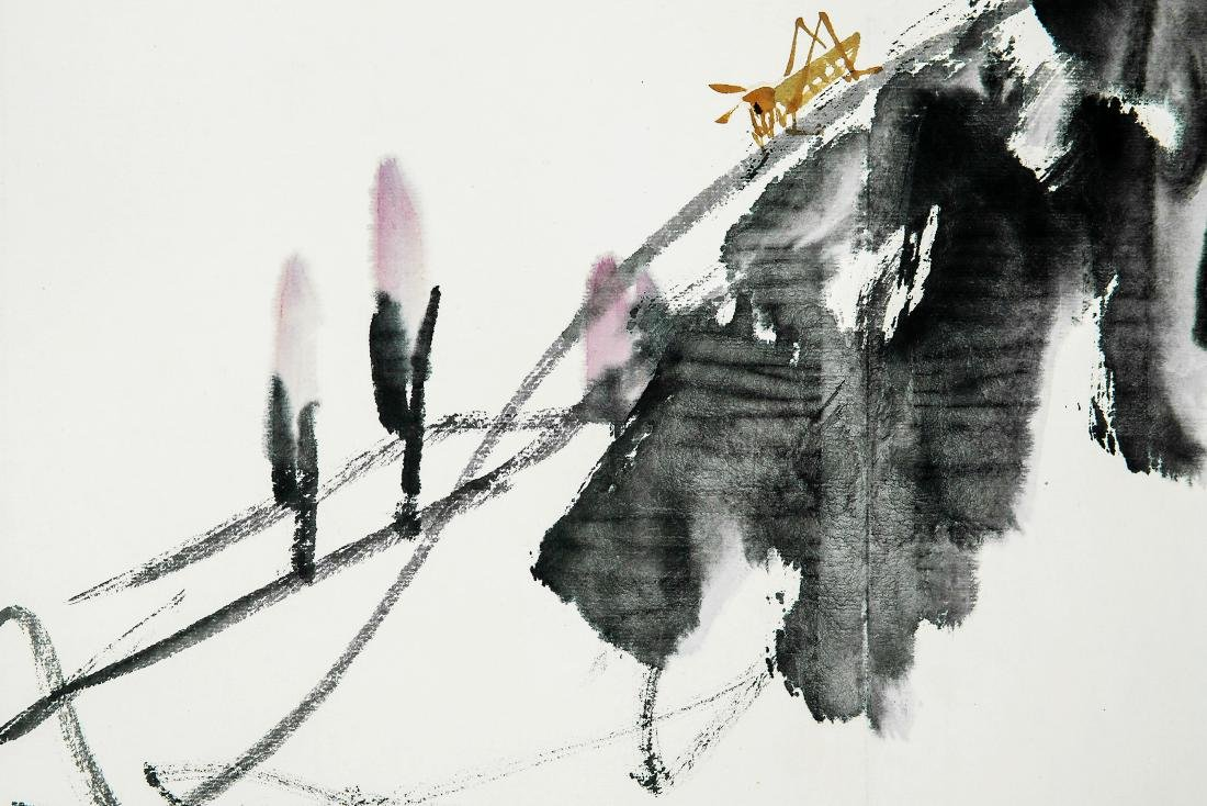 A Chinese Ink and Color Painting, Cui Zifan - 4
