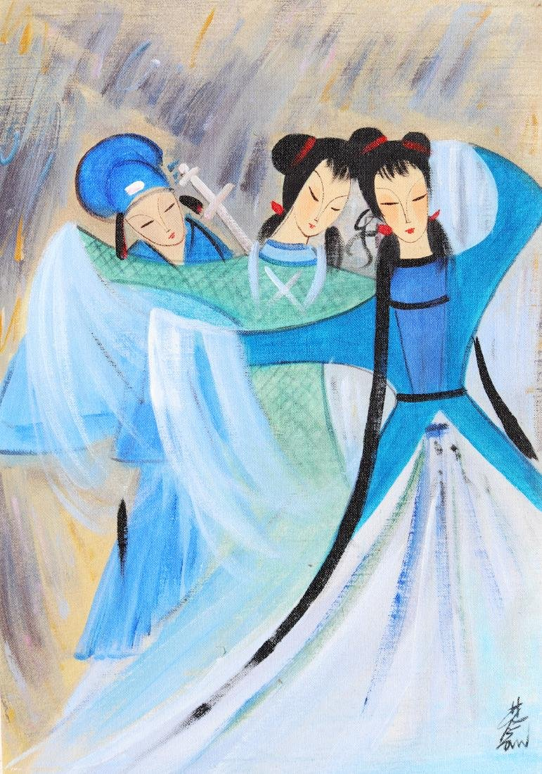 A Chinese Oil Painting Attribute to Lin Fengmian