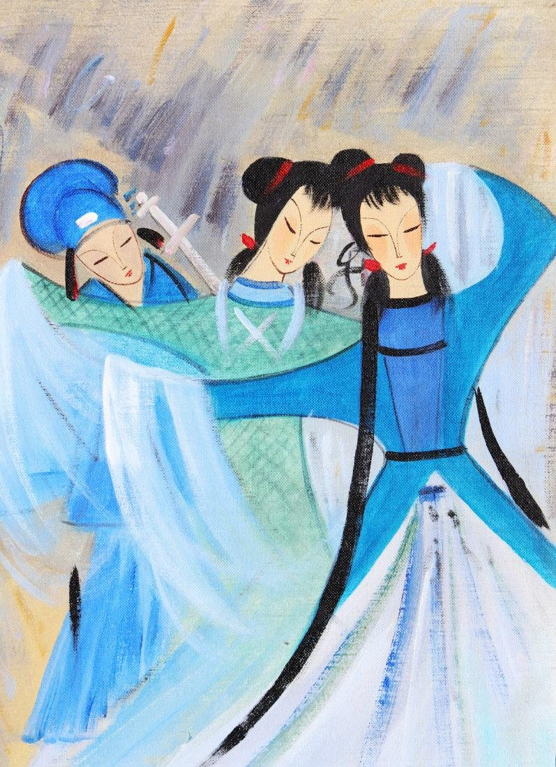 A Chinese Oil Painting Attribute to Lin Fengmian - 2