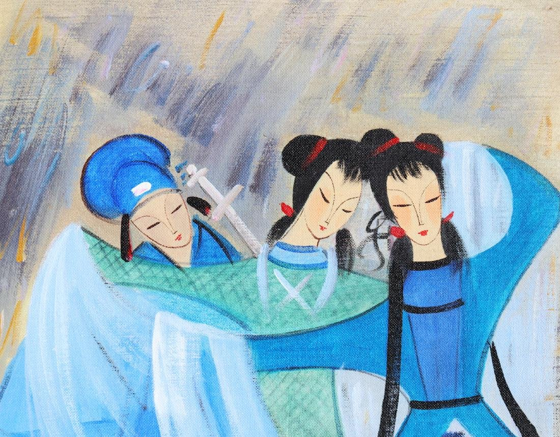A Chinese Oil Painting Attribute to Lin Fengmian - 4