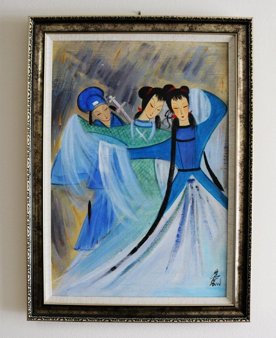 A Chinese Oil Painting Attribute to Lin Fengmian - 7