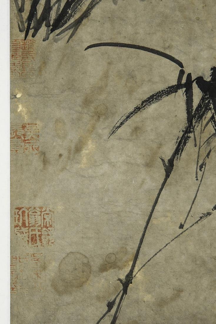 A Chinese Ink and Color Scrolling Painting Zheng Banqia - 6