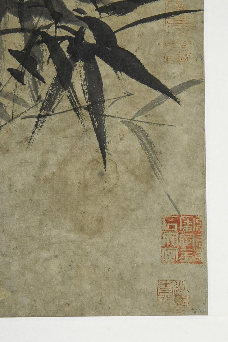 A Chinese Ink and Color Scrolling Painting Zheng Banqia - 7