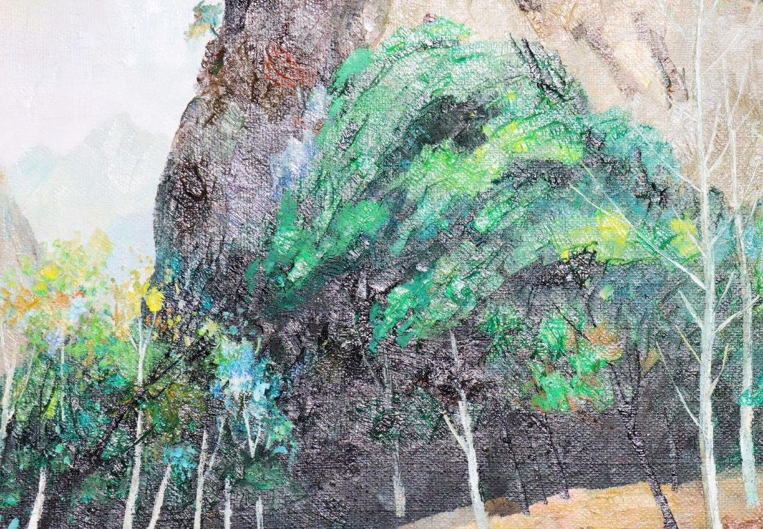 A Chinese Oil Painting Attribute to Wu Guanzhong - 10