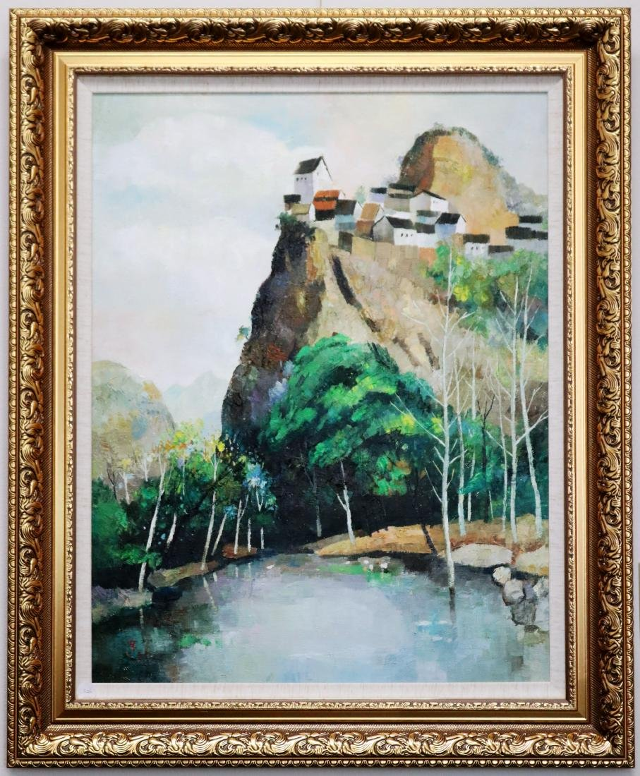 A Chinese Oil Painting Attribute to Wu Guanzhong