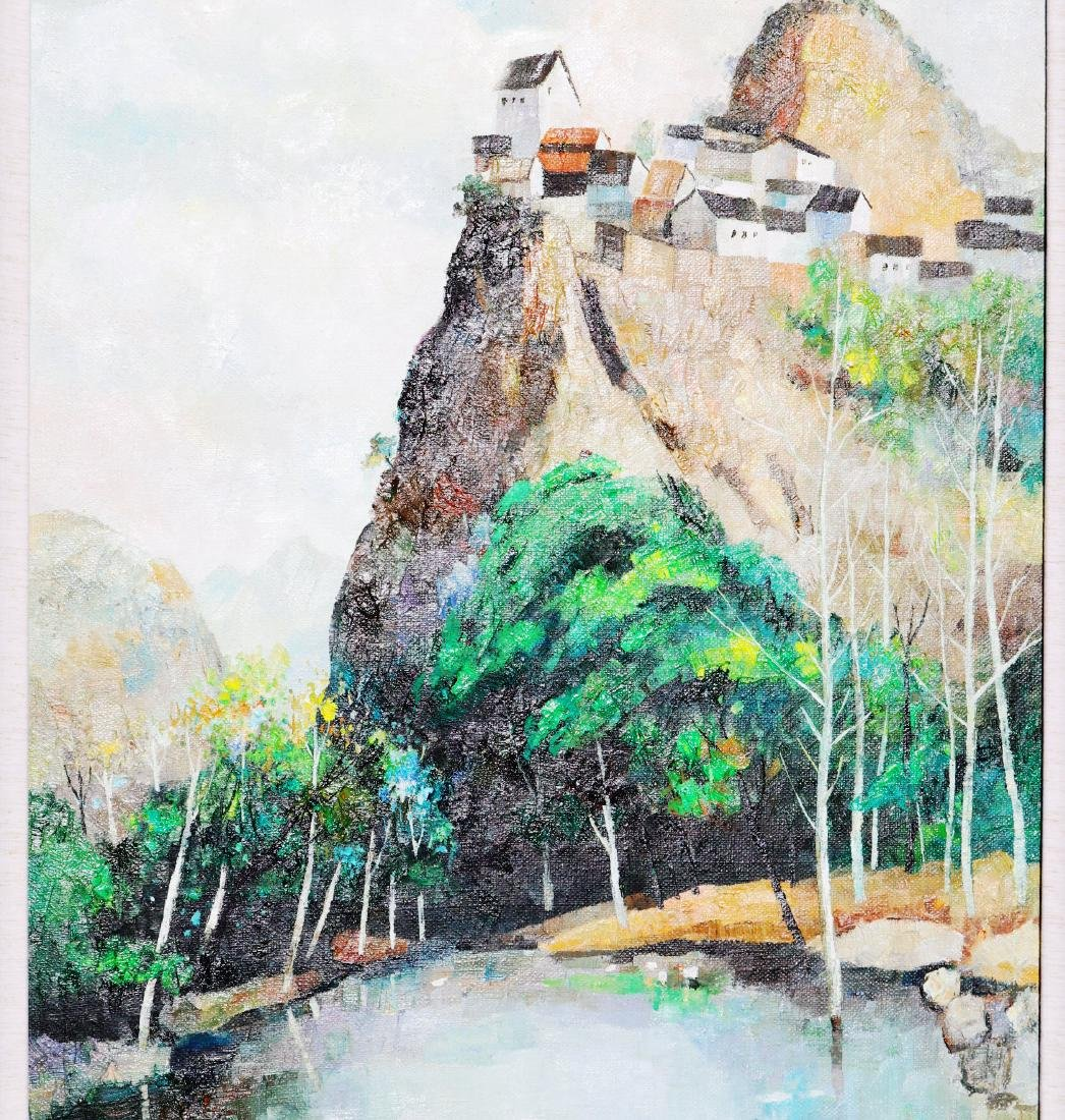 A Chinese Oil Painting Attribute to Wu Guanzhong - 3
