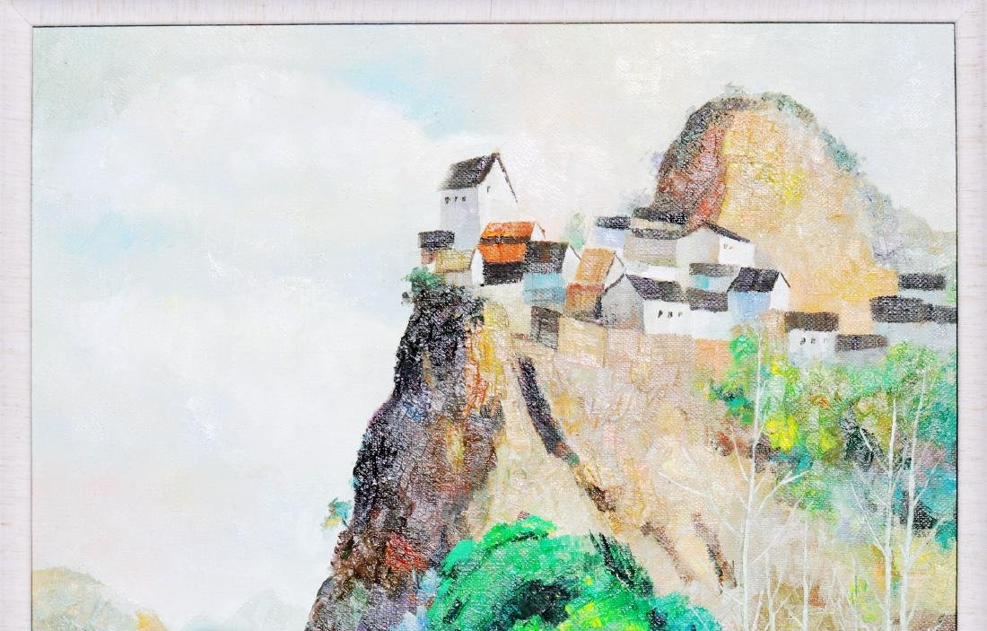 A Chinese Oil Painting Attribute to Wu Guanzhong - 4