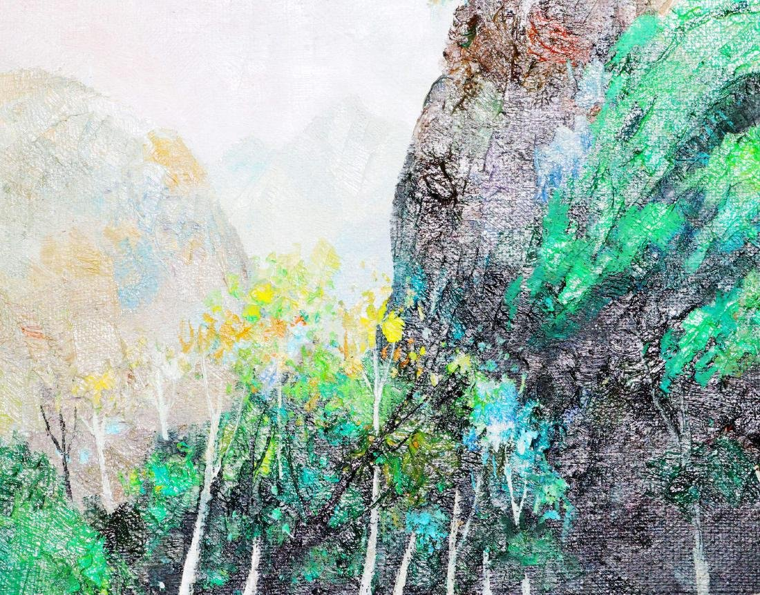 A Chinese Oil Painting Attribute to Wu Guanzhong - 5