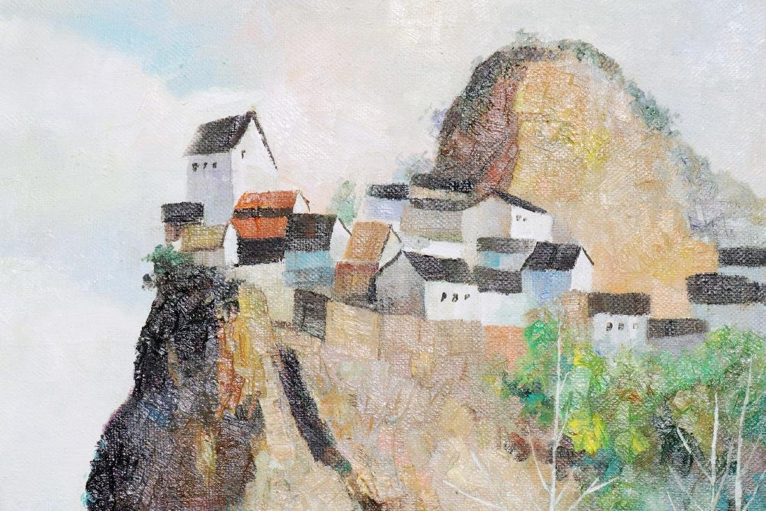 A Chinese Oil Painting Attribute to Wu Guanzhong - 7
