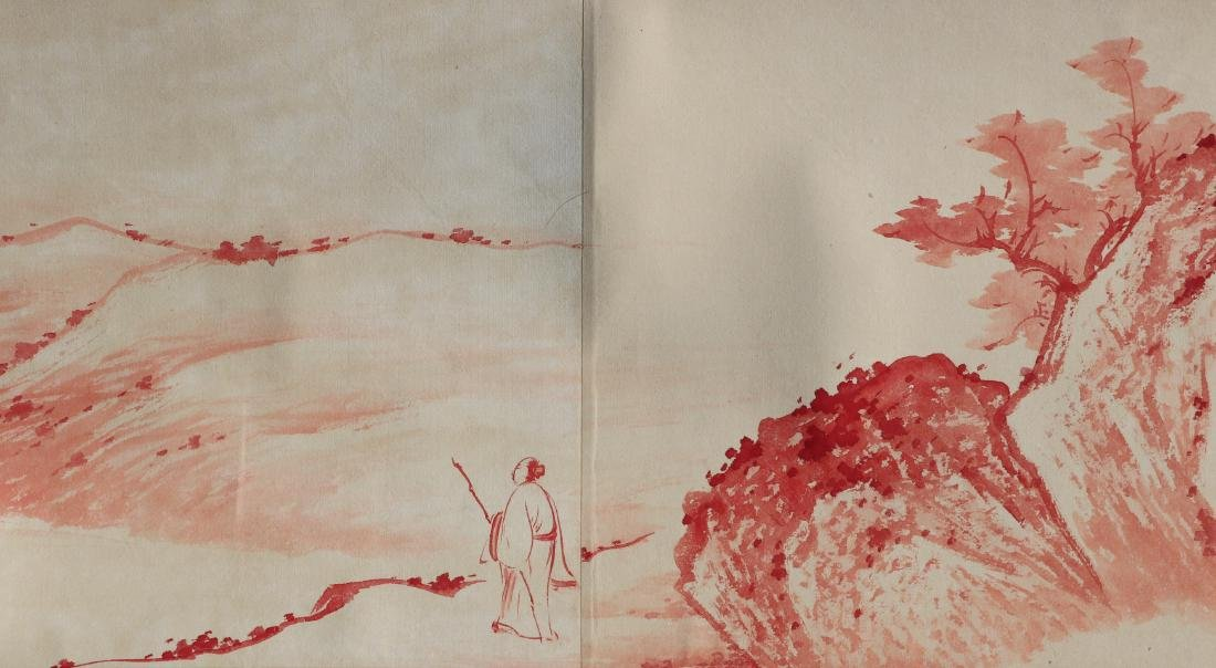 A Chinese Ink and Color Handscroll Painting Zhang Daqia - 10