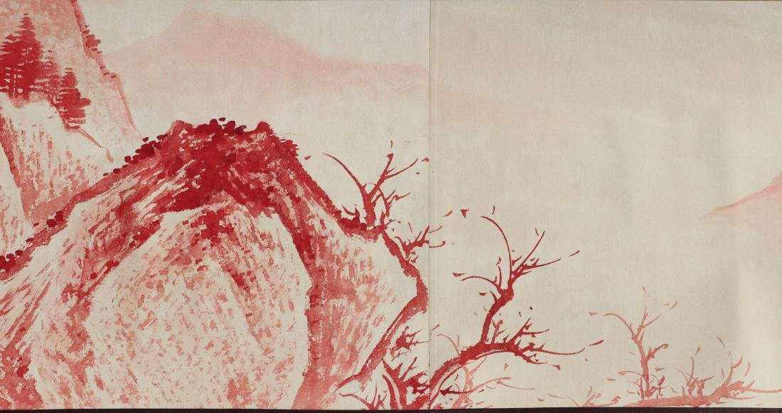 A Chinese Ink and Color Handscroll Painting Zhang Daqia - 6