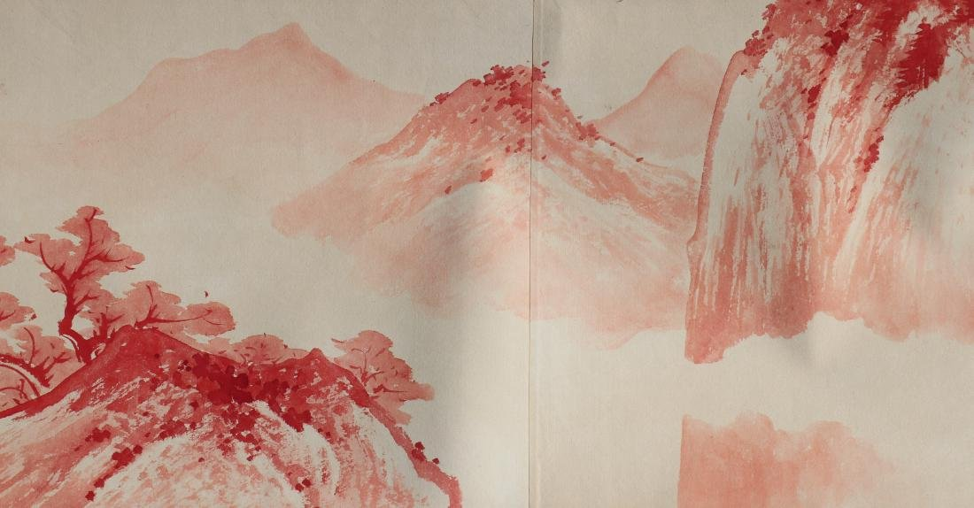 A Chinese Ink and Color Handscroll Painting Zhang Daqia - 8