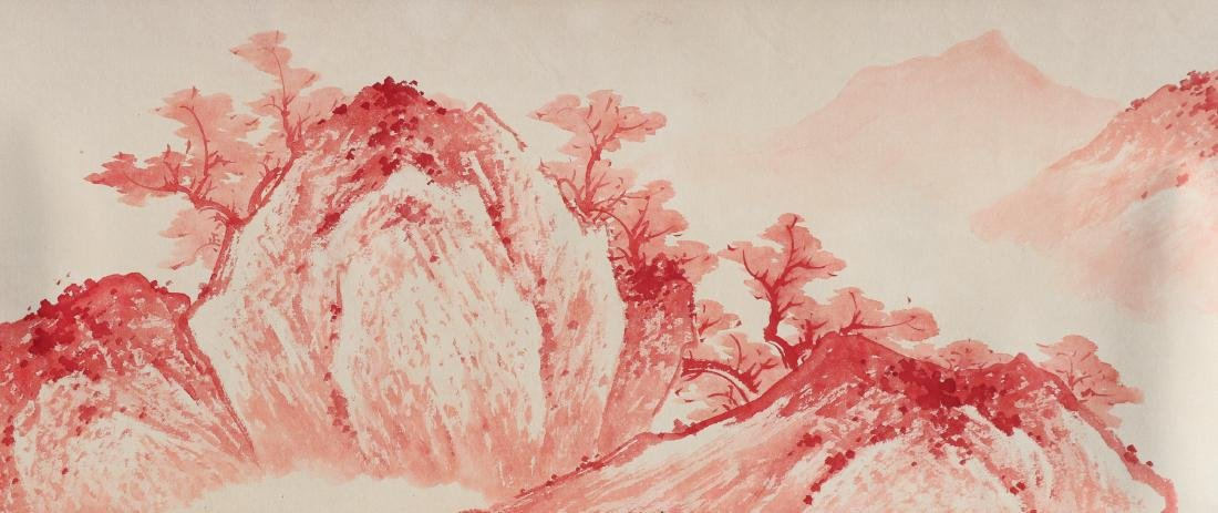 A Chinese Ink and Color Handscroll Painting Zhang Daqia - 9