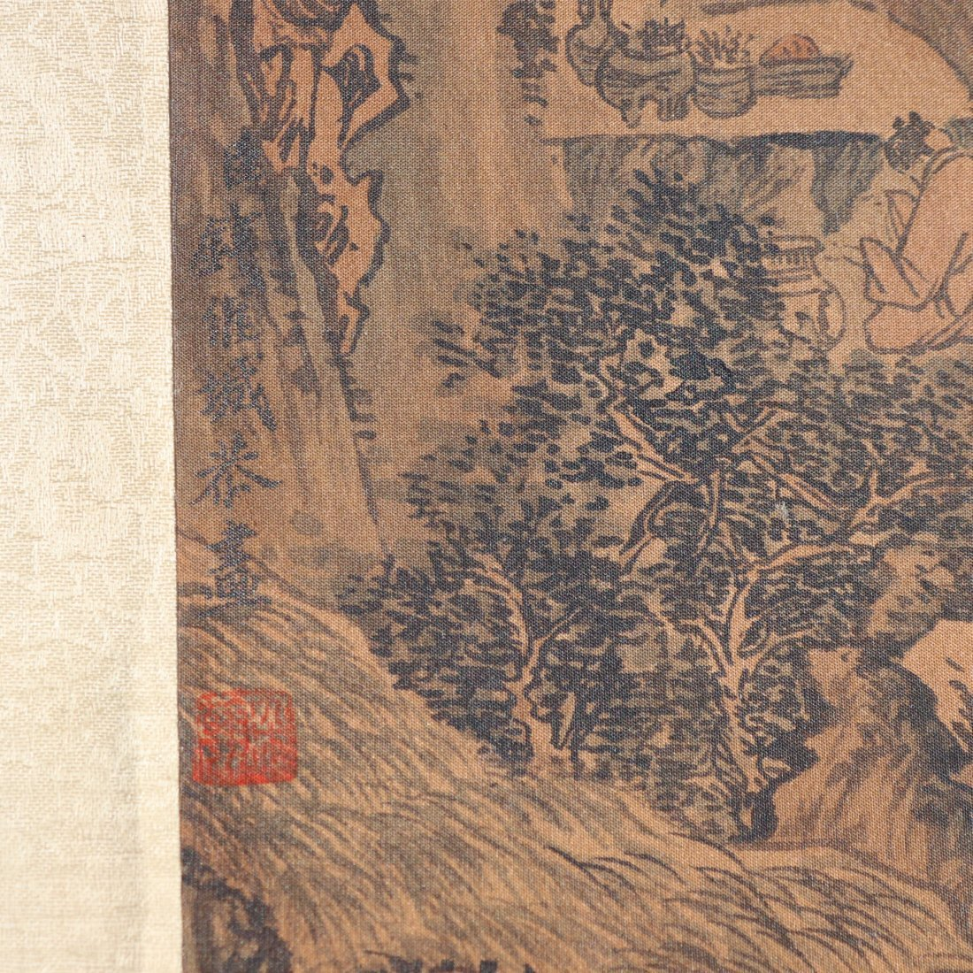 A Chinese Ink and Color Handscroll Painting Qian Weiche - 10
