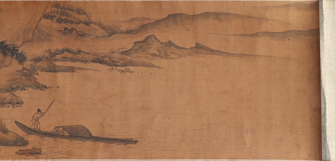 A Chinese Ink and Color Handscroll Painting Qian Weiche - 4
