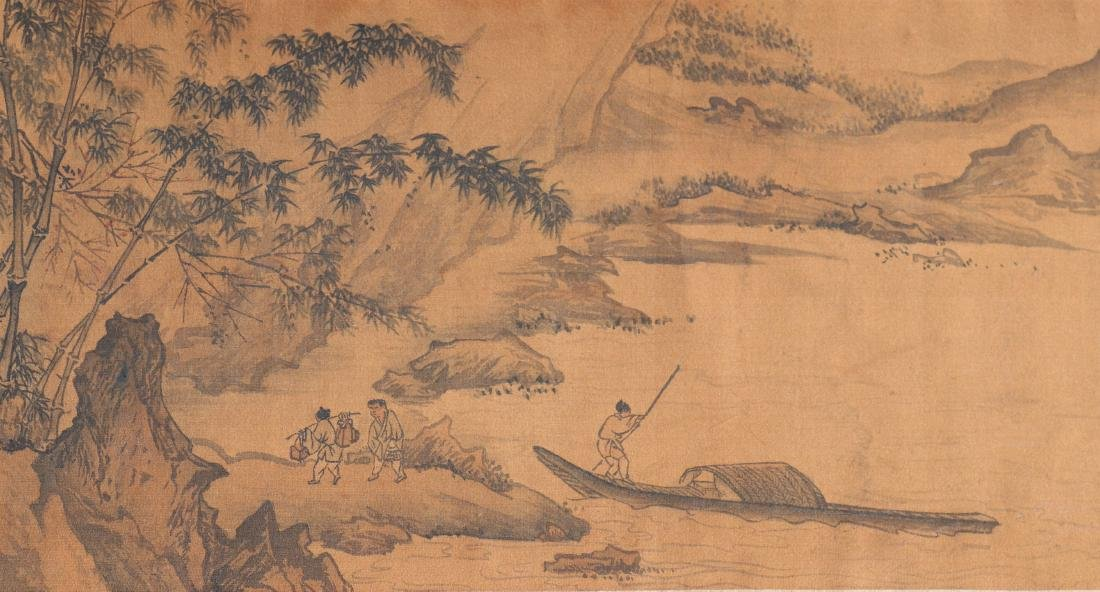 A Chinese Ink and Color Handscroll Painting Qian Weiche - 5