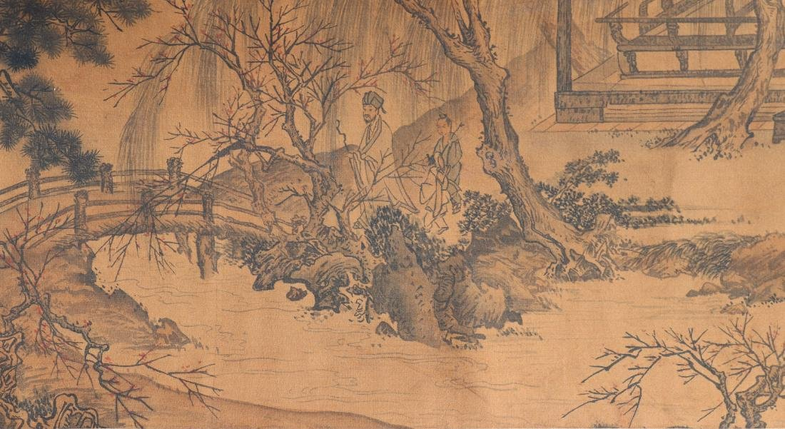 A Chinese Ink and Color Handscroll Painting Qian Weiche - 7