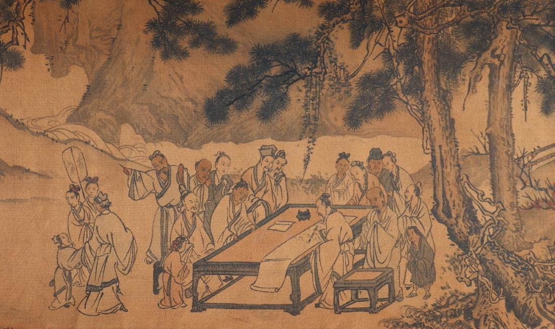 A Chinese Ink and Color Handscroll Painting Qian Weiche - 8