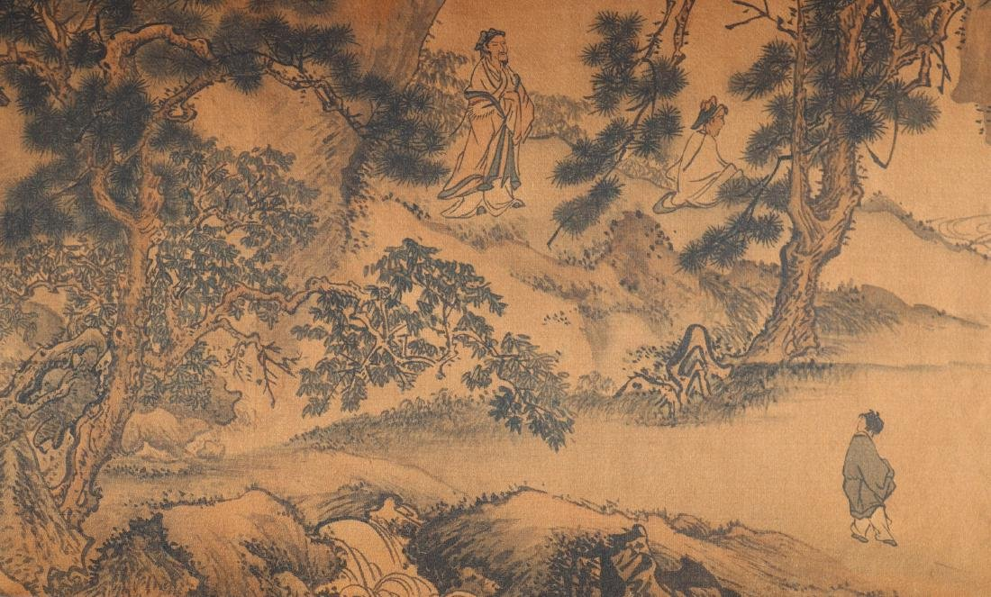 A Chinese Ink and Color Handscroll Painting Qian Weiche - 9