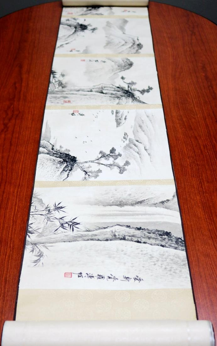 A Chinese Ink and Color Handscroll Painting Pu Zuo - 2