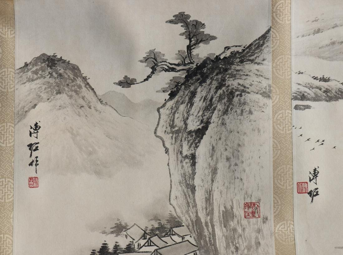 A Chinese Ink and Color Handscroll Painting Pu Zuo - 5