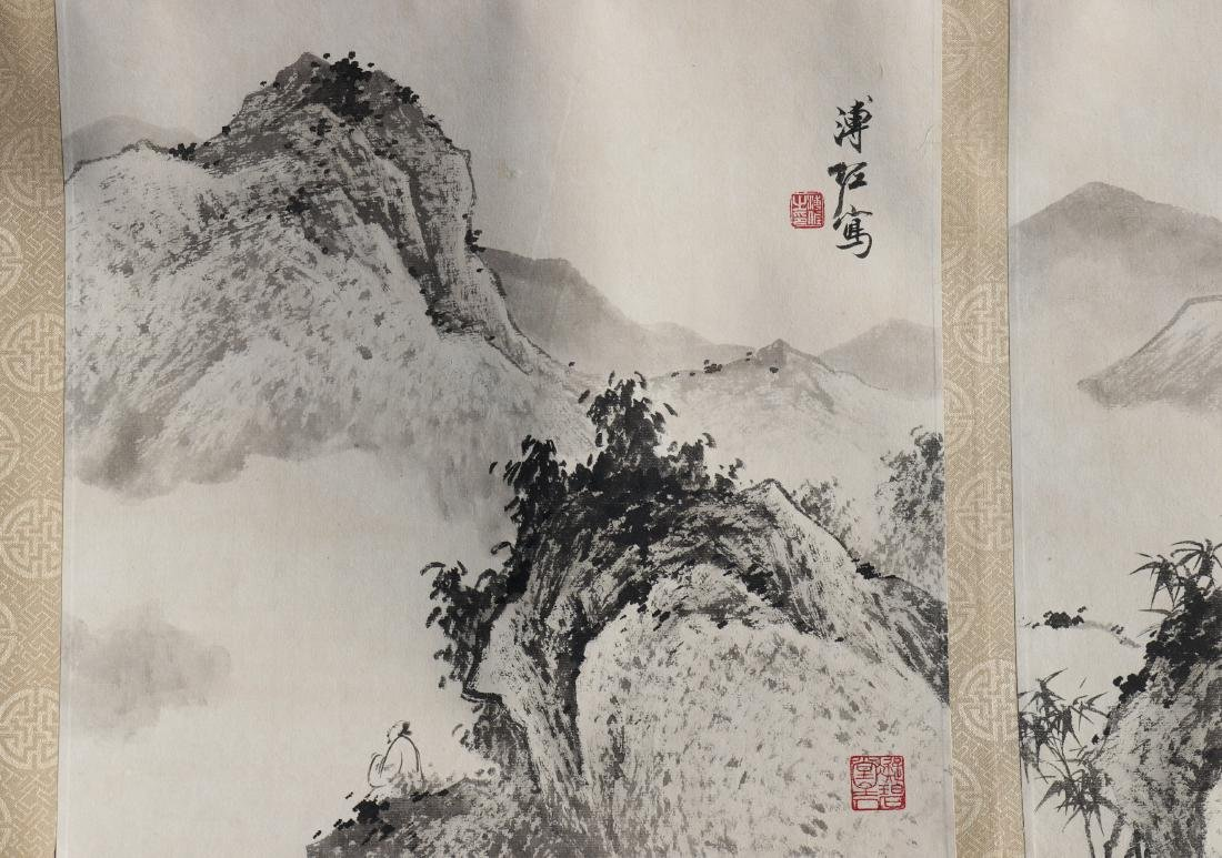 A Chinese Ink and Color Handscroll Painting Pu Zuo - 7